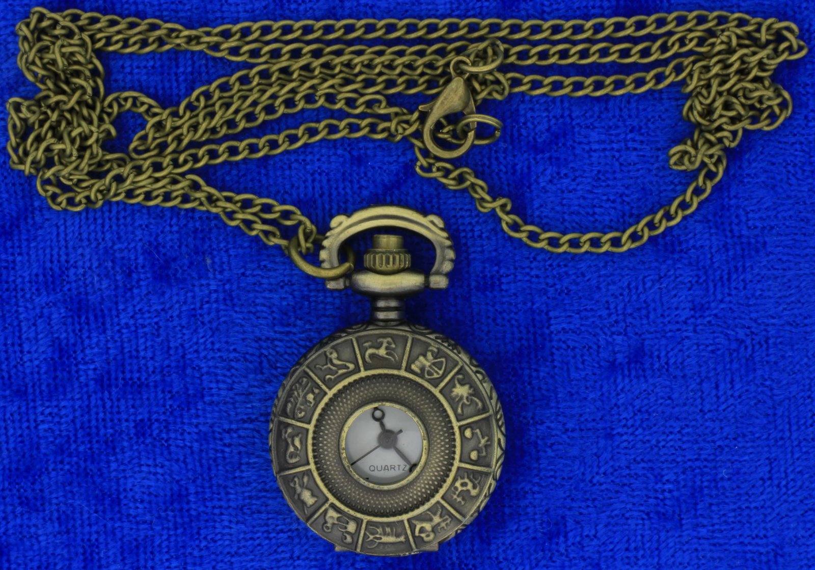 Zodiac watch necklace