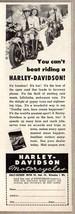 1948 Print Ad Harley-Davidson Motorcycles 2 Men Ride Hogs Milwaukee,WI - $10.88
