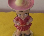 Mexican Senoprita Hat Dance Doll Wind-Up    One Of A Kind Vintage