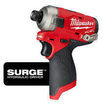 "Milwaukee 2551-20 M12 Fuel™ Surge™ 1/4"" Hex Hydraulic Driver TOOL ONLY - $148.49"