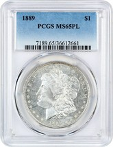 1889 $1 PCGS MS65 PL - Milky Fields! - $1,018.50