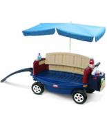 Kids Beach Covered Wagon Outdoor Sun Umbrella C... - $164.95