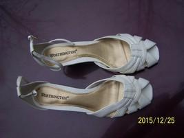 Worthington white wedge heels 6 1/2M dress wedding - £2.44 GBP