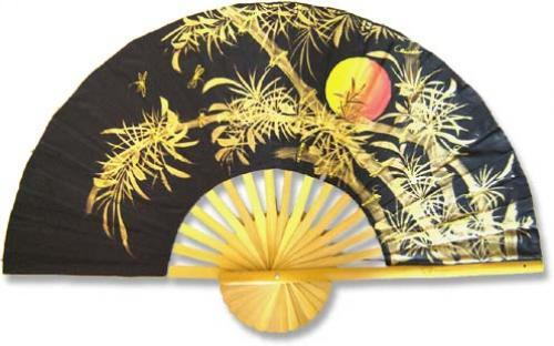 """60"""" width Bamboo Moon Chinese Wall Fans"""