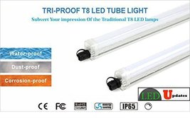 2pcs 4 Ft Waterproof 30 W Triproof Led Light Tube For Parking Lot Car Wash Outdoor - $117.99