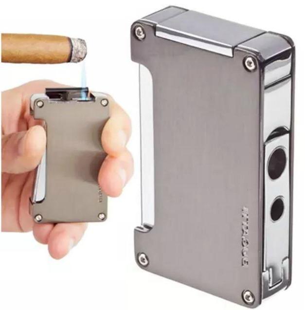 Men Cigar Camping Stogie Smoker Relaxation Sturdy Flame Bugatti Torch Lighter