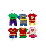 Baby Superhero Infant Boys Girls Rompers Toddler Outfit Supergirl Superm... - $19.99