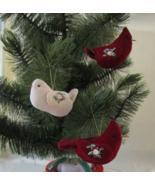 Soft Sculpture Ornaments, Set of 3 Velvet Birds - $12.00