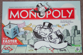 MONOPOLY PROPERTY TRADING GAME 2007 PARKER BROTHERS HASBRO COMPLETE EXCE... - $12.00