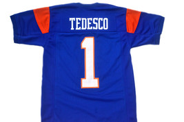 Harmon Tedesco #1 Blue Mountain State Movie Football Jersey Blue Any Size image 1