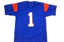Harmon Tedesco #1 Blue Mountain State Movie Football Jersey Blue Any Size image 5
