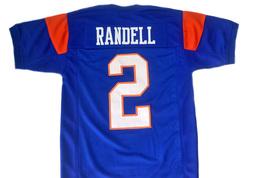 Radon Randell #2 Blue Mountain State Movie Football Jersey Blue Any Size image 4