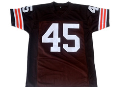 Ernie Davis #45 The Express Movie New Men Football Jersey Brown Any Size image 5