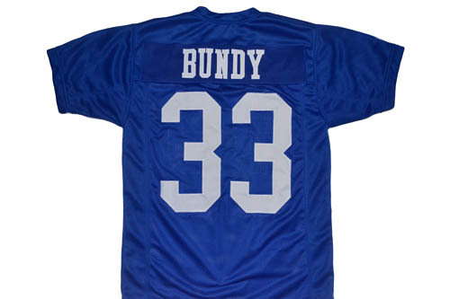 Al Bundy #33 Polk High Married With Children Movie Football Jersey Blue Any Size