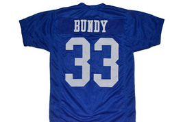Al Bundy #33 Polk High Married With Children Movie Football Jersey Blue Any Size image 3