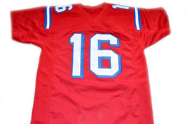 Shane Falco #16 The Replacement Movie Football Jersey Red Any Size image 5