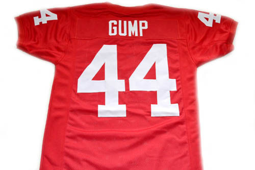 Forrest Gump #44 Movie Men Football Jersey Red Any Size