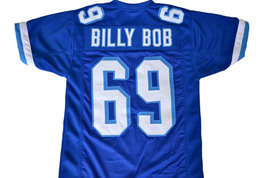 Billy Bob #69 Varsity Blues Movie Football Jersey Blue Any Size image 1