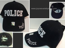 Police Officer Law Enforcement Cop Baseball Cap Hat Black Adult Size - $10.99