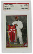 Lebron James 2003 Topps #221 Cavaliers Rookie Basketball Card GM MNT PSA 10 - $13,859.99
