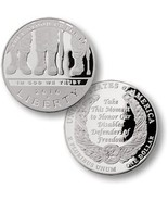 2010 AMERICAN VETERANS DISABLED FOR LIFE SILVER PROOF DOLLAR - €119,36 EUR