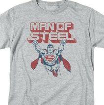 Superman T-shirt DC comics Man of Steel retro Batman cotton graphic tee SM1934 image 3
