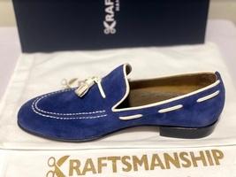 Handmade Men's Blue Suede Slip Ons Loafer Dress/Formal Shoes image 7