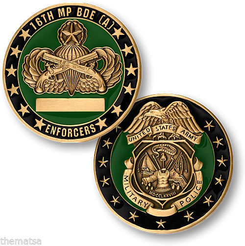 ARMY 16TH MILITARY POLICE BR  AIRBORNE CHALLENGE COIN