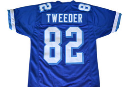 Tweeder #82 Varsity Blues Movie Men Football Jersey Blue Any Size image 1