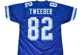 Tweeder #82 Varsity Blues Movie Men Football Jersey Blue Any Size image 4