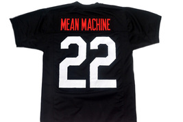 Mean Machine #22 Longest Yard Movie Men Football Jersey Black Any Size image 1