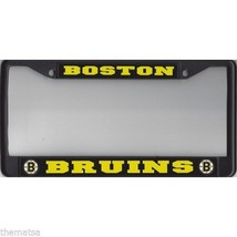 BOSTON BRUINS BLACK METAL LICENSE PLATE FRAME USA MADE - $28.21
