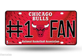 Chicago Bulls Red #1 Fan Nba Logo Usa Made  Auto Tag License Plate - $28.21
