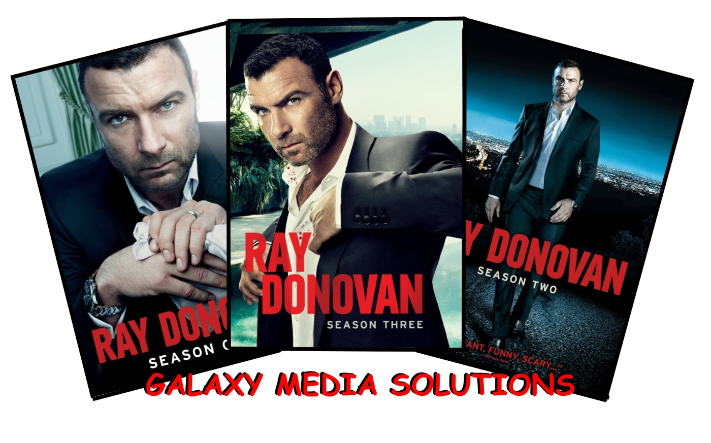 Ray donovan season one three 1 3 bundle  2013 2015 12 dvd  scrieber gould4