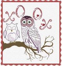 Owl XOOX cross stitch chart Alessandra Adelaide Needleworks  - $16.20