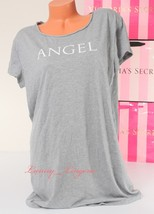 VS Victoria's Secret Sleepshirt Angel Logo Sleep Pajama T-Shirt Sleepwea... - $17.59