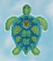 Sea Turtle Spring Bouquet Collection 2016 seasonal ornament bead kit Mil... - $6.30