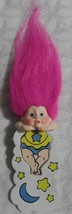 Applause MAGIC TROLLS BOOKMARK Pink Hair yellow blue clothing NEW FAST S... - $9.99