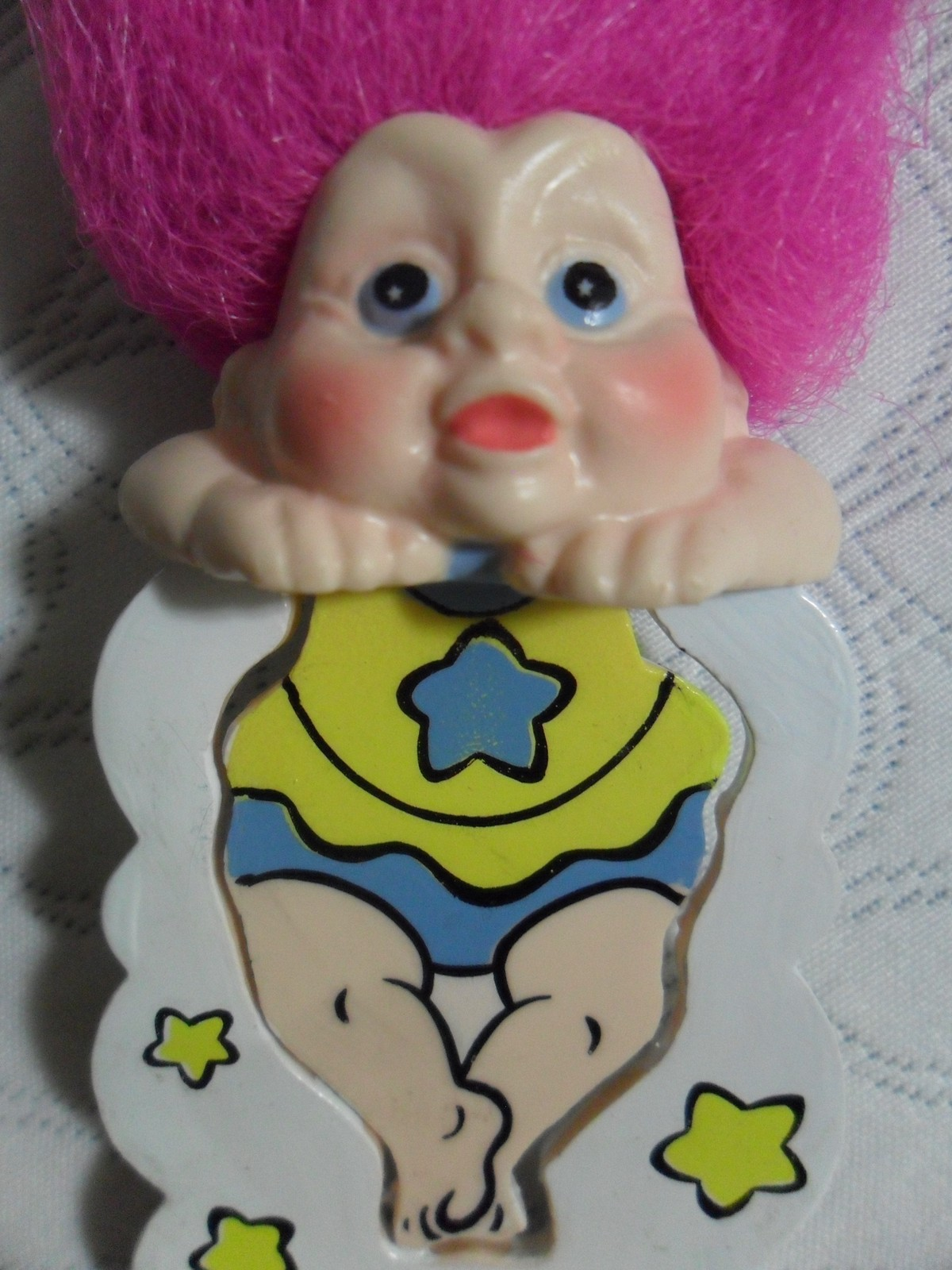 Applause MAGIC TROLLS BOOKMARK Pink Hair yellow blue clothing NEW FAST SHIPPING