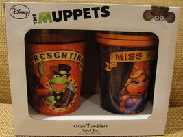 MUPPETS Miss Piggy & Kermit the Frog - Glass Tumbler Set - Disney - New ... - $20.00