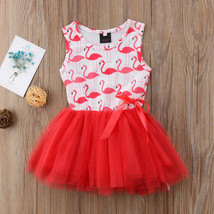 NWT Girls Flamingo Pink Striped Sleevless Tutu Dress 2T 3T 4T 5T - $10.99
