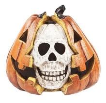 Ganz Light Up Skull Jack O Lantern Pumpkin Resin Figurine Halloween Deco... - $16.99