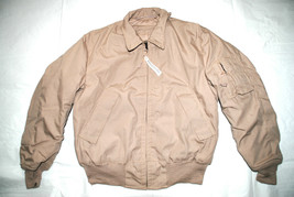 NWT US AIR FORCE USAF TAN NOMEX FLYER'S COLD WEATHER JACKET - MEDIUM REG... - $94.05