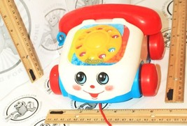 FISHER-PRICE CHATTER TELEPHONE PULL ROTARY COLOR DIAL TOY PHONE KIDS OR ... - $8.79
