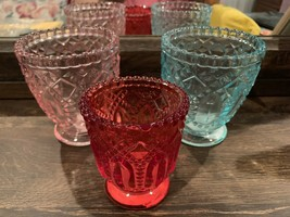 Opalhouse Set Of Three 3 Glass Votive Candle Holders New Holiday Collect... - $17.09