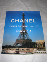 """Chanel Rare Edition """"Chanel Wants To Send You To Paris""""Ad Campaign Poster Eiffel - $28.71"""