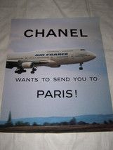 """Chanel Rare Edition """"Chanel Wants To Send You To Paris""""Ad Campaign Poster   Jet - $28.71"""