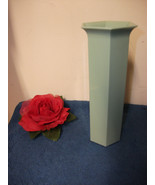 SEAFOAM GREEN PLASTIC VASES 2 DOZEN BOX NEW FAVORS FLORAL DISPLAY FLORIST - $18.69