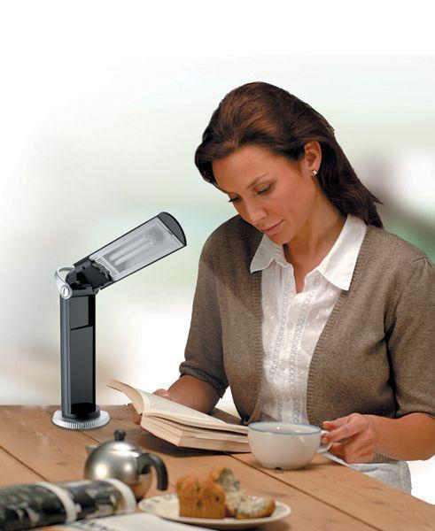 Daylight Twist Portable Lamp Black U33701 DISCOUNTED Daylight Company