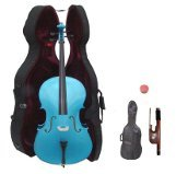 Primary image for Lucky Gifts 1/2 Size Student Cello with Hard Case,Soft Carrying Bag,Bow ~ Blue